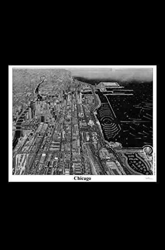 Chicago Skyline Poster Print 8 X10 Krikko Obbott Perspective