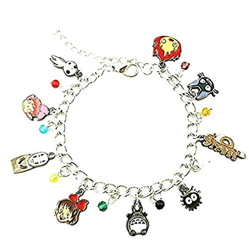 Studio Ghibli Inspired Jewelry Collection Charm Bracelet w/Gift Box by Superheroes -