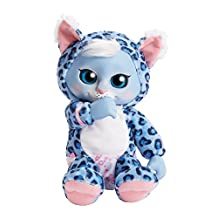 ANIMAL BABIES 87609 Deluxe Electronic Plush Baby Snow Leopard