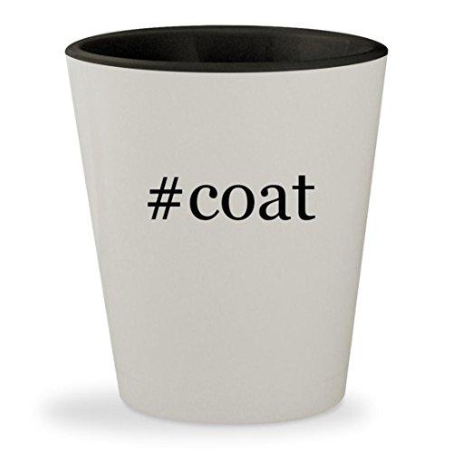 #coat - Hashtag White Outer & Black Inner Ceramic 1.5oz Shot - Shoe Express Lab