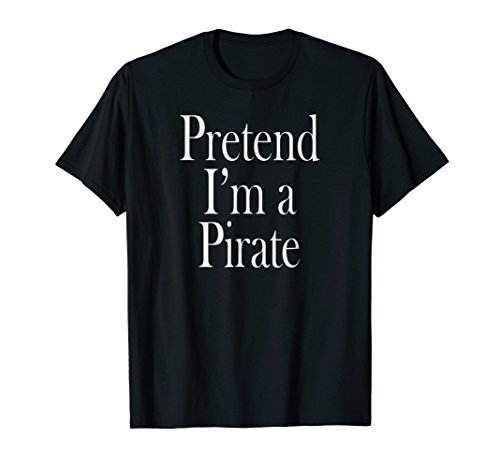 Mens Pirate Costume T-Shirt for the Last Minute Party Large Black