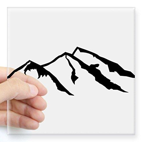 CafePress Mountain Sticker Square Sticker 3 x 3 - Standard Clear