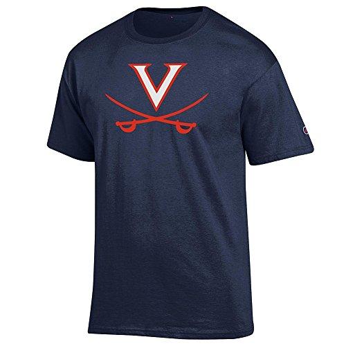 (Elite Fan Shop Virginia Cavaliers Tshirt Icon Navy - XL)