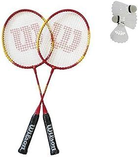 Wilson Impact Gail Emms Lot de 2 raquettes de badminton Junior et 3 volants