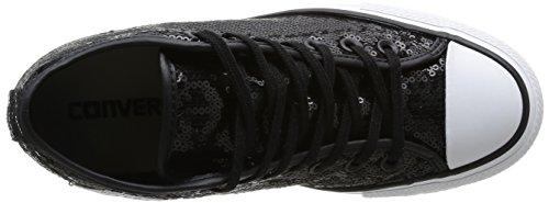 All Sequins Sneaker Sequins Lux Mid Star Donna Converse Black gwq48dxTg