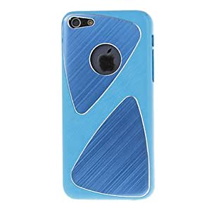 Brushed Metal Protective Hard Case with Aluminium Sheets for iPhone 5C (Assorted Colors) - COLOR#Black
