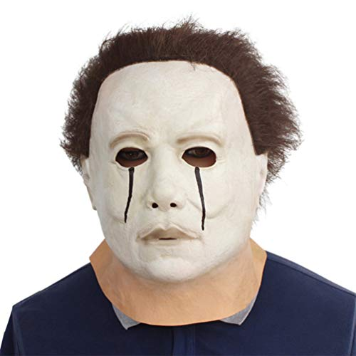 Novelty Halloween Cosplay Costume Masquerade Party Latex Creepy Scary Horror Cry Michael Myers Head Mask