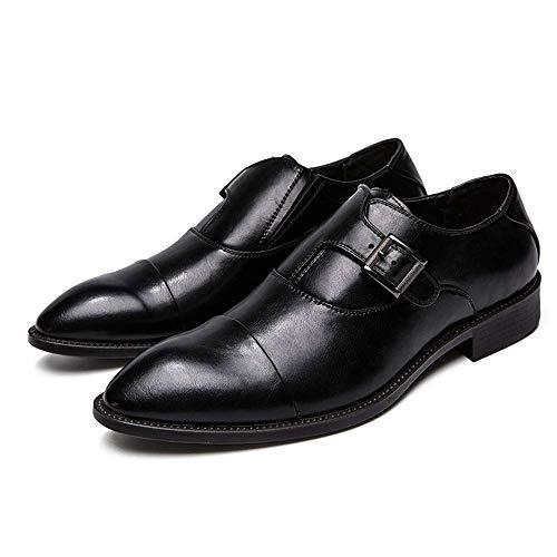 Peso Cómodos 2018 Gran Tamaño Negro Zapatos 40 Oxford Hombres Tamaño Metal De Negocios Negro Para Bajo Botones Ocasionales Formales Transpirables color Ue 7Fwvgq7