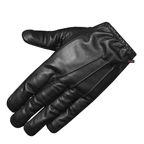 New Police Duty Soft Leather Short Thin Unlined Search Gloves Black S