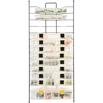 Organized Fishing Large Modular Utility Box Wire Rack for Fishing Equipment Storage, Holds up to 14 Boxes, NFR-014 For Sale