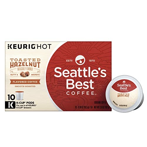 Seattle's Best Coffee Toasted Hazelnut Flavored Medium Roast Single Cup Coffee for Keurig Brewers, 10 Count ()