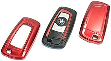 OriginalEuro Metal Red Remote Flip Key Cover Case Skin Shell Cap Fob Protection Hull for Porsche