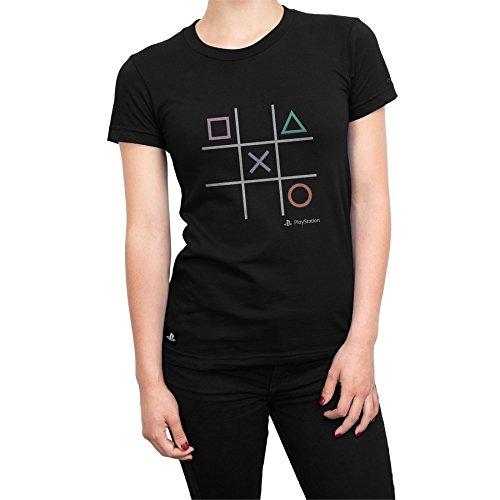 Camiseta Playstation Feminina Play All Time - Preto - Gg