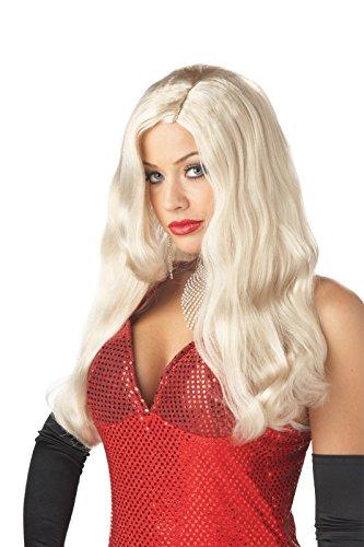 [California Costumes Silver Screen Sinsation Wig, Blonde, One Size] (Costume Conventions California)