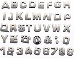 s61Ylu 1pc Silver Individual Car Auto 3D Chrome Letters or Numbers Emblem Badge Sticker The Letter L