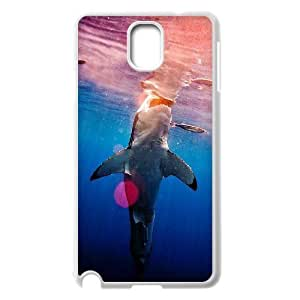 Diy Cool Shark Custom Cover Phone Case for samsung galaxy note 3 White Shell Phone [Pattern-2]
