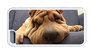 Hipster customize for iphone 5/5S case Funny Shar Pei Dog TPU White for Apple for iphone 5/5S