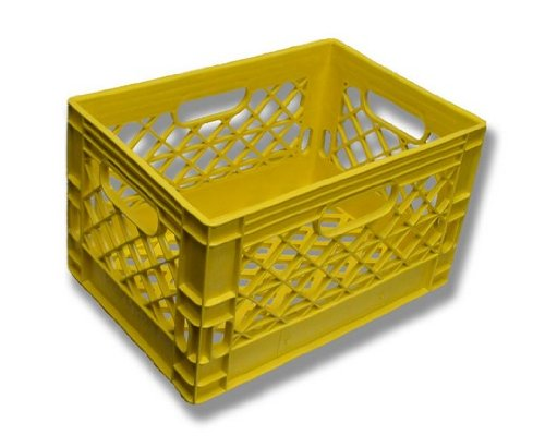 Authentic 19x13x11 6 Gallon 24 Quart Rectangular Dairy Milk Crate (YELLOW) Dcrates Y191311