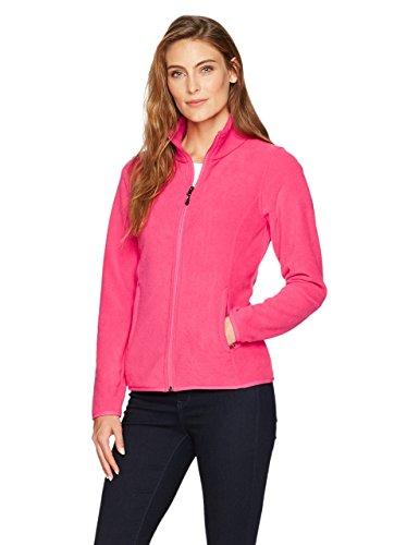 - Amazon Essentials Womens Full-Zip Polar Fleece Jacket, Dark Pink, Medium