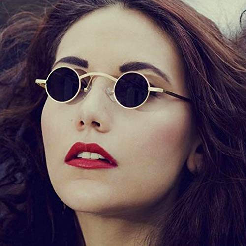 Gold Letam Gray Lunettes Oculos Marque Style C1 Vintage Rond Vampire Sol Petit Design De Soleil rOAn6rU