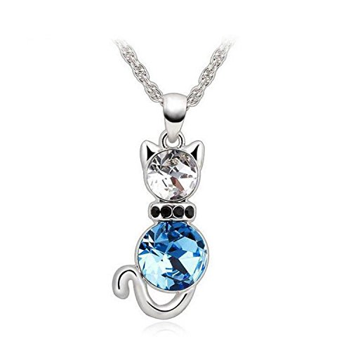 Creativelife Austrian Crystal Necklace Water Drop Pendant Necklace For Women