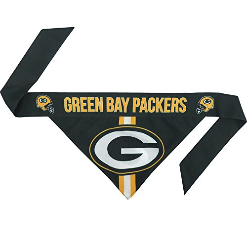 NFL Green Bay Packers Team Dog Bandana, Large, Green