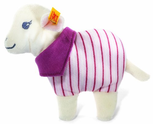 (Steiff Leni Lamb Rattle (White/ Pink))