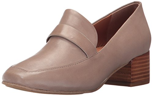 Gentle Dress Block Eliott Women's Heel Souls Loafer Taupe Menswear by Cole Kenneth Leather Pump w6gqxPrw