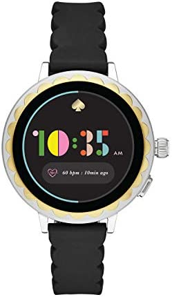 Kate Spade New York Women's Scallop 2 or Sport Stainless Steel Touchscreen Smartwatch with Heart Rate, GPS, Contactless Pay, and Smartphone Notifications