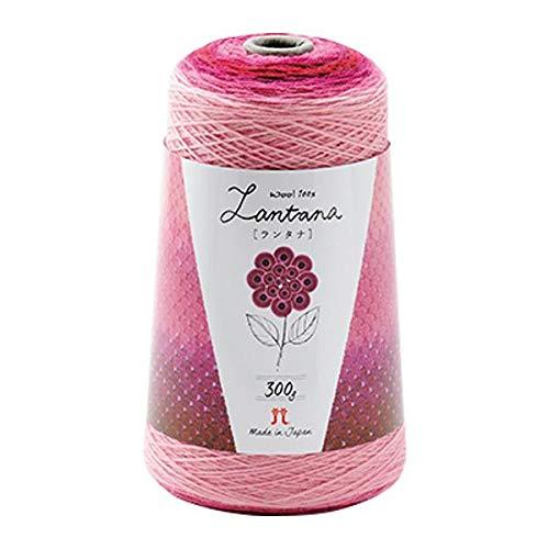 ウール100%の毛糸です。 ハマナカ ランタナ 毛糸 中細 Col.204 ピンク系 300g 約1200m 2421 〈簡易梱包 B07RL9VFQ3