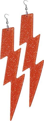 Forum Novelties Women's Neon Orange Lightning Bolt -