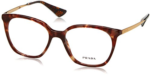 Prada Women's PR 11TV Eyeglasses Pink Havana - Frames Red Prada