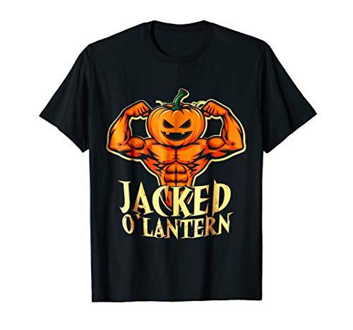 Funny Jacked Halloween Pumpkin Workout Motivation T Shirt -