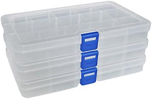 DUOFIRE - Caja de Almacenamiento de plástico (24 Compartimentos ...
