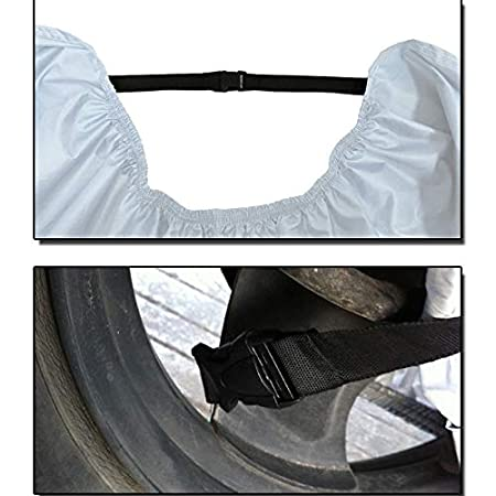 Doitsa 1pcs Housse de Protection de Moto en Polyester 190T B/âche Imperm/éable avec Sac de Rangement L 220 110cm 95 Camouflage et Noir