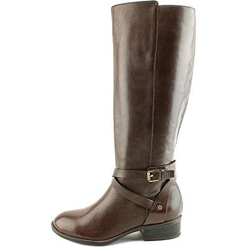 Lauren by High Boots Brown Dark Women's Lauren Riding Mariah Knee Ralph rrdqcU