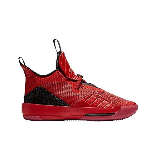 Nike Kids Air Jordan XXXIII (GS) Basketball Sneaker (4.5 Big Kid, University Red/Black-Sail-University Red)