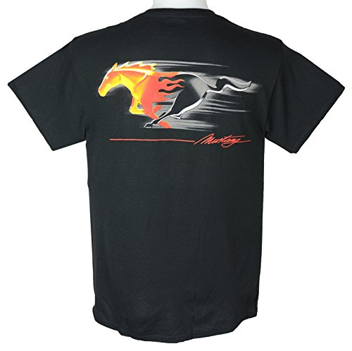 Ford Mustang T-shirt Flaming Pony Muscle X-Large