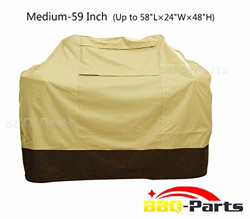 bbq-parts Barbecue Grill Cover for Weber(Genesis), Charmglow, Brinkmann, Jennair, Uniflame, Lowes, and Other Model Grills (Medium,Large,X-Large,XX-Large) (59 (Veranda Cart Bbq Cover)