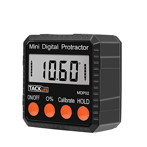 Tacklife MDP02 Advanced Digital Protractor Level / Bevel Gauge/ Angle Gauge / Angle Finder with Automatic Shutdown, Magnetic Based, Battery Included for Miter Saw / Automobile Test, Repair and etc