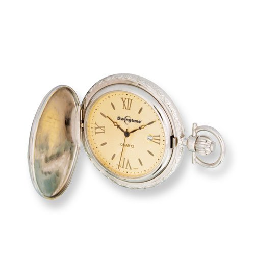 Swingtime Rose & Chrome-plated Quartz Pocket Watch, Best Quality Free Gift Box Satisfaction Guaranteed by Swingtime