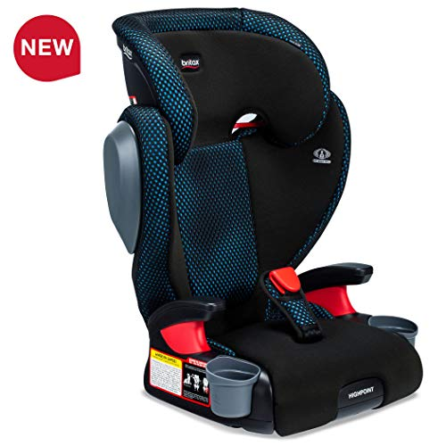 Britax USA Highpoint 2-Stage Belt-Positioning Booster Cool Flow Ventilating Fabric Car Seat – Highback and Backless – 3 Layer Impact Protection – 40 to 120 Pounds, Teal