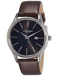 Akribos XXIV Men's AK618BR Essential Analog Display Japanese Quartz Brown Watch