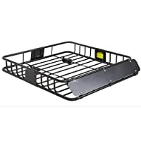Best Choice Products SKY1515 Universal Roof Rack (Cargo Car Top Luggage Carrier Basket Traveling SUV Holder)