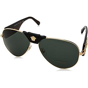 Versace Mens Sunglasses Gold/Grey Metal - Non-Polarized - 62mm