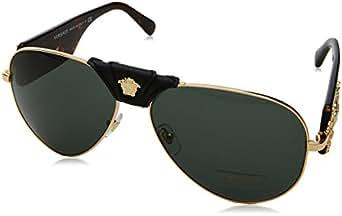 Amazon.com: Versace Mens Sunglasses Gold/Grey Metal - Non