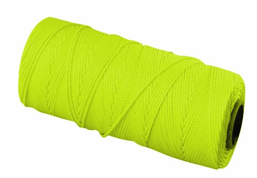 - Bon 11-876 18 No.350-Feet EZC Bricklayers Braided Nylon Line, Neon Yellow