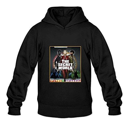 Men's The Secret World Game Hooded Sweatshirt Size