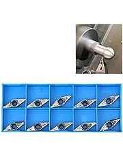 Inserto de torneado de carburo, 10 piezas Aleación de carburo CNC Cuchillas de corte de carburo Herramienta de mandrinado de torneado para procesamiento de acero Procesamiento mecánico