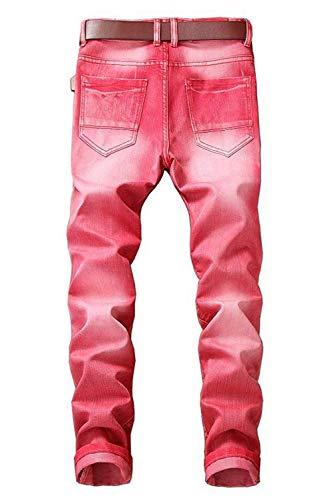 Destrozado Hombres Pants Fit 2018 Slim Skinny Denim Stretch Rot Biker Trousers Jeans qaqwxnXgp